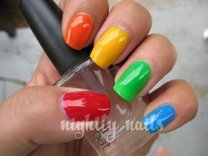 Rainbow Nails- Nightly Nails